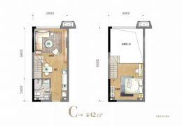 生态广场~55平米~2室2厅1卫~只售65万出售~