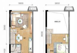 九铭广场42平米2室1厅1卫出售