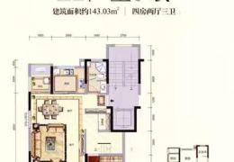 章江新区、海亮天成洋房复式、总价180万