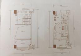 万象城旁-毛坯复式公寓-可做两套用-有阳台-可落户