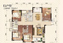 章江新区世纪嘉园125平米3室2厅2卫出售