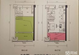 章江新区 万象城旁 双玺复式双层公寓  现售95万
