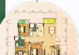 開發區精致三房南北通透雙陽臺極佳樓層108萬