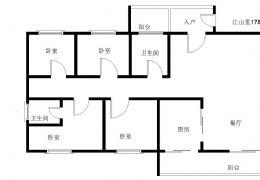 江山里178平米4室2厅2卫出售