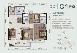 首付20万起,购开发区110平米3室2厅2卫,高端