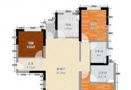 中海國際;通透3室2廳;150萬急售