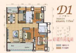 丽景江山 小区最便宜一套 南北通透三房120万