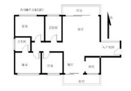 山与城,南北通透阳台,入户花园。单价8700/平
