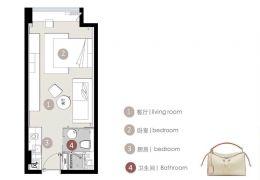 高铁新区 绿地城际空间站公寓47平米1室2厅1卫出