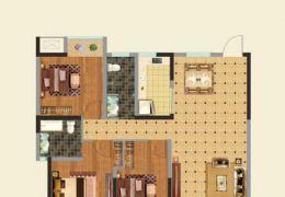 赣县圣都汇113平米3室2厅2卫出售