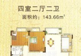 江南明珠,经典户型,阳台超大,电梯高层4房168万