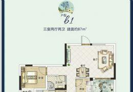 理想嘉园87平米3室2厅2卫出售