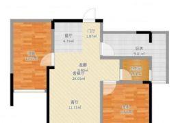 天韻雅苑 112萬 2室2廳1衛 毛坯,南北通透