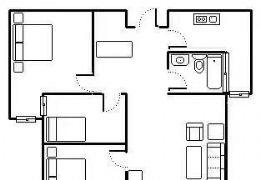《豪德学区》精致二房  带露台 急售109万