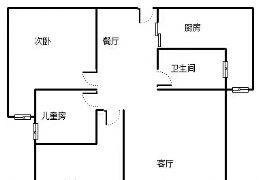 呈祥中央首府85平米3室2厅1卫出售