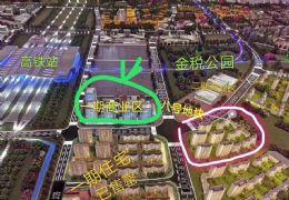 贛州高鐵站西廣場旁 綠地集團 沿街底商小金鋪