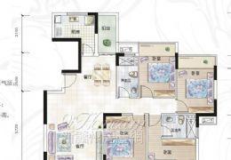 中央星城,正規四房,朝南,滿兩年,房東急售188萬