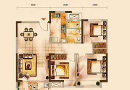 省10萬中海派89平米3室2廳2衛出售