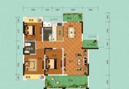 桃李春天 130平米三房兩廳兩衛兩陽臺 僅112萬