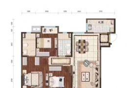 中海左岸馥园128平米3室2厅2卫出售