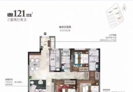 华润万橡公馆121平米3室2厅95万起售