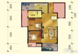 章江新区旁好楼层使用100平米三房特价85万出售