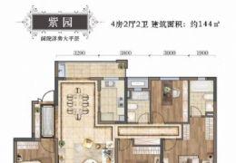 全线江景洋房 正规4房2厅2卫 南北通透 双阳台