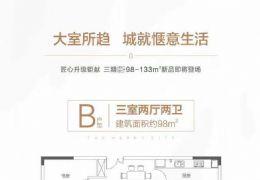 蓉江新区98平米3室2厅2卫出售