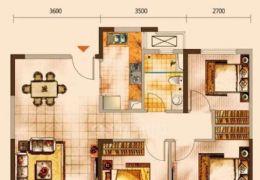 中海小三房带车位89平米3室2厅1卫出售