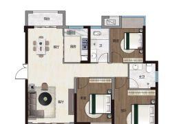 公园学区房东方君庭117平3室2厅2卫出售104万
