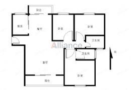 嘉福國際136平米3室2廳2衛128萬