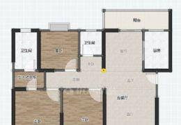 鵬欣水游城132平米3室2廳2衛出售