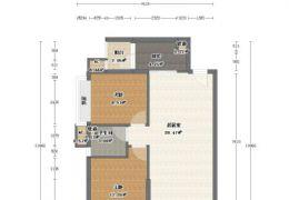 云星中央星城精装89平米2室2厅1卫出售