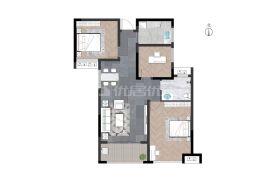 世纪嘉园 99方 全新装修 3房2卫急售140万