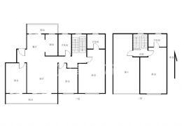 中海天玺 洋房复式 六房二厅二卫 175平 大客厅