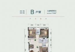 云星公园华府114平米3室2厅2卫出售