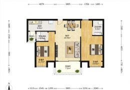 蓉江新区商都嘉园96平米2室2厅2卫出售