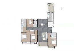 中海华府,中心楼,190平米大平层,精装,9.9新