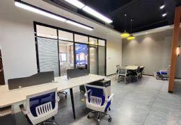 华润大厦122平精装写字楼带办公家具急租,无转让费