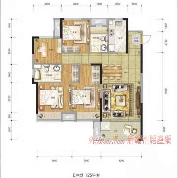 江景低于市场价捡漏房源海亮天城4室2厅出售