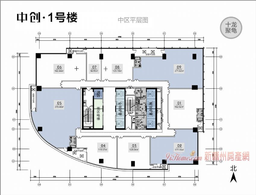 贛州中心新地標 中創國際全新高層寫字樓出售_房源展示圖4_新贛州房產網