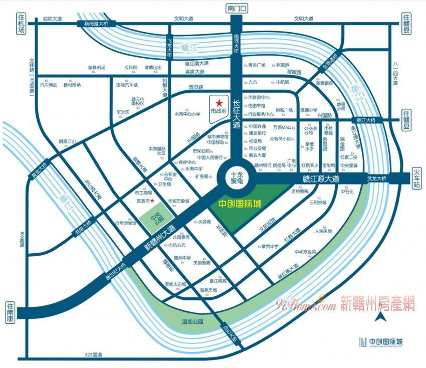 贛州中心新地標 中創國際全新高層寫字樓出售_房源展示圖3_新贛州房產網