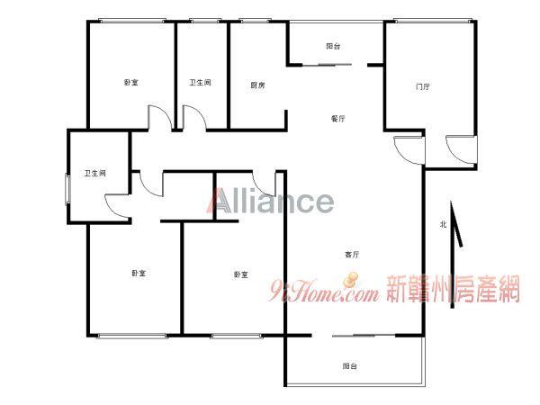 毅德融城四房2厅2130平米4室2厅2卫出售_房源展示图0_新赣州房产网