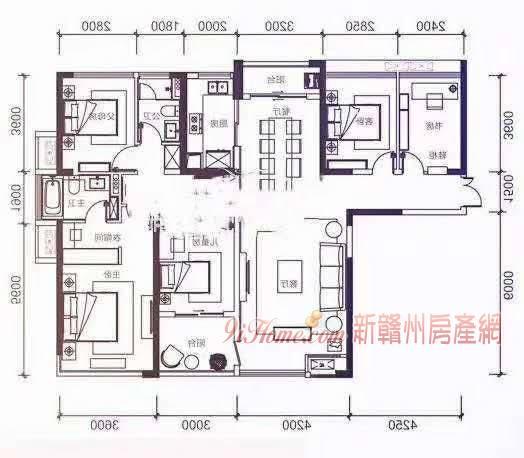 章江新区最具性价比的通透大四房,楼层好,随时看房_房源展示图0_新赣州房产网