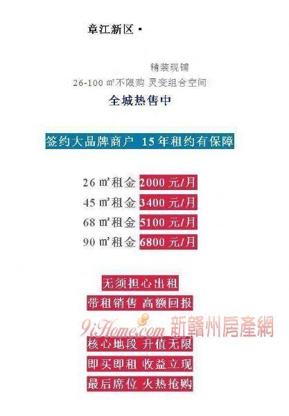 章江新区成熟现铺出售 即买即收租_房源展示图2_新赣州房产网