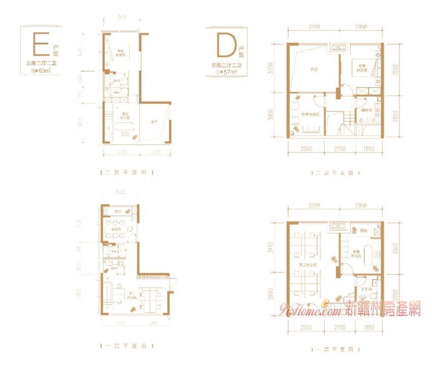 中央公园旁复式楼 无梁板真复式 得房率高_房源展示图3_新赣州房产网