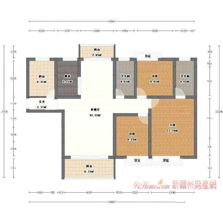 万达广场旁 台湾城4房 业主急售_房源展示图0_新赣州房产网