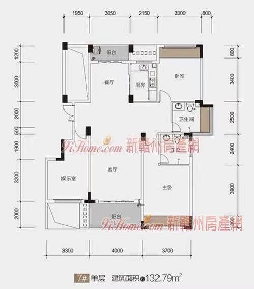 乾盛T1公館136方 3+1戶型 哭訴價175萬_房源展示圖5_新贛州房產網
