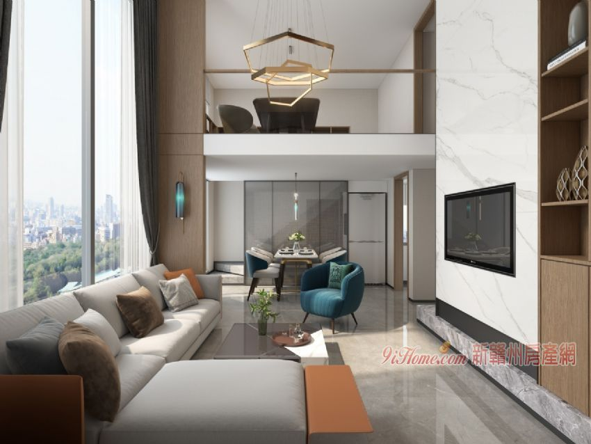 萬象城 中央公園 復式3室2廳2衛公寓 LOFT_房源展示圖2_新贛州房產網
