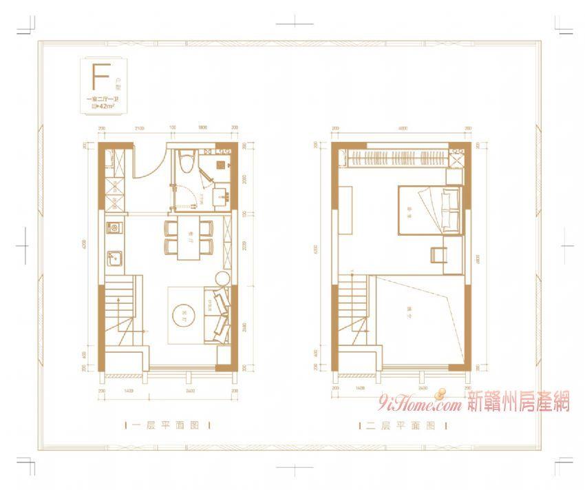 萬象城 中央公園 復式3室2廳2衛公寓 LOFT_房源展示圖4_新贛州房產網